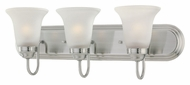 Thomas Lighting SL710341 Homestead Satin Pewter Finish 24  Wide 3 Light Bathroom Light Fixture