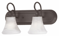 Thomas Lighting SL744263 Elipse Painted Bronze Finish 9.5  Tall 2 Light Bath Wall Sconce