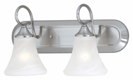 Thomas Lighting SL744278 Elipse Brushed Nickel Finish 18  Wide 2 Light Bathroom Light Sconce