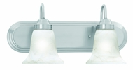 Thomas Lighting SL758278 Homestead Brushed Nickel Finish 18  Wide 2 Light Bath Lighting Sconce