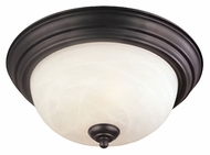 Thomas Lighting SL869263 Ceiling Essentials Painted Bronze Finish 13.25  Wide Flush Ceiling Light Fixture