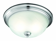 Thomas Lighting SL869278 Ceiling Essentials Brushed Nickel Finish 5.5  Tall Flush Mount Ceiling Light Fixture
