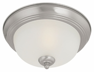 Thomas Lighting SL878378 Ceiling Essentials Brushed Nickel Finish 6.75  Tall Flush Mount Light Fixture