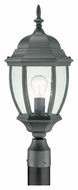 Thomas Lighting SL90107 Covington Traditional Black Finish 21.5  Tall Outdoor Post Lamp