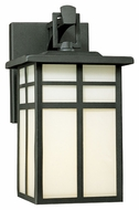 Thomas Lighting SL91047 Mission Craftsman Black Finish 5.5  Wide Exterior Wall Mounted Lamp