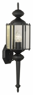 Thomas Lighting SL92437 Brentwood Traditional Black Finish 25.75  Tall Outdoor Lamp Sconce