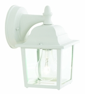 Thomas Lighting SL94228 Outdoor Essentials Traditional Matte White Finish 8.5  Tall Outdoor Wall Sconce Lighting
