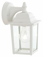Thomas Lighting SL94238 Outdoor Essentials Traditional Matte White Finish 10  Tall Outdoor Wall Light Sconce