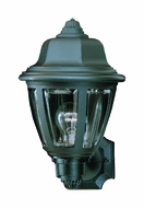 Thomas Lighting SL94407 Plastic Outdoor Traditional Black Finish 8  Wide Exterior Wall Sconce Light