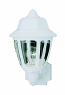 Thomas Lighting SL94408 Plastic Outdoor Traditional Matte White Finish 13.5  Tall Outdoor Wall Sconce
