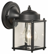 Thomas Lighting SL94697 Outdoor Essentials Traditional Black Finish 7.5  Tall Outdoor Wall Light Fixture