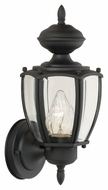 Thomas Lighting SL94717 Park Avenue Traditional Black Finish 12  Tall Outdoor Wall Lighting Sconce
