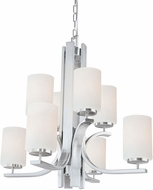 Thomas TK0008217 Pendenza Modern Brushed Nickel Chandelier Lamp
