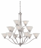 Thomas Lighting TK0023217 Prestige Brushed Nickel Finish 45  Tall Chandelier Lamp