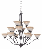 Thomas Lighting TK0023722 Prestige Sable Bronze Finish 48  Wide Chandelier Light