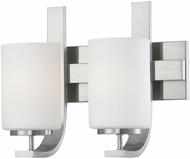 Thomas TV0007217 Pendenza Modern Brushed Nickel 2-Light Bathroom Light