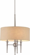 Thomas M261678 Allure Brushed Nickel Drum Pendant Light Fixture