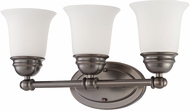 Thomas SL714315 Bella Oiled Bronze 3-Light Bathroom Lighting Sconce