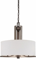 Thomas SL806615 Pendenza Modern Oiled Bronze Drum Pendant Lighting Fixture