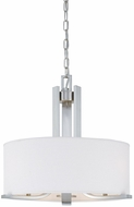 Thomas SL806678 Pendenza Contemporary Brushed Nickel Drum Hanging Pendant Lighting