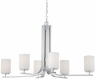 Thomas SL806978 Pendenza Contemporary Brushed Nickel Lighting Chandelier