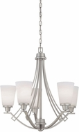 Thomas TK0011117 Wright Matte Nickel Chandelier Lighting