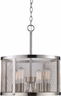 Trans Globe 10224-BN Mesh Modern Rubbed Oil Bronze Drum Lighting Pendant