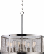 Trans Globe 10228-BN Mesh Contemporary Brushed Nickel Drum Pendant Lamp