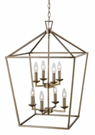 Trans Globe 10268-ASL Lacey Antique Silver Leaf 19  Entryway Light Fixture