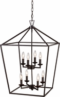 Trans Globe 10268-ROB Lacey Rubbed Oil Bronze 19  Foyer Lighting