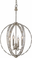 Trans Globe 10364-ASL Emporium Antique Silver Leaf Hanging Pendant Light