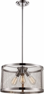 Trans Globe 10383-PC Mist Modern Polished Chrome Drum Hanging Light Fixture