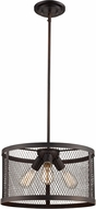 Trans Globe 10383-ROB Mist Contemporary Rubbed Oil Bronze Drum Drop Lighting