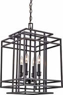 Trans Globe 10404-BK Boulevard Contemporary Black 14  Foyer Lighting Fixture