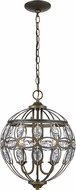 Trans Globe 10473-AB Adeline Antique Brass Drop Lighting Fixture