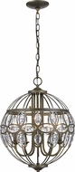 Trans Globe 10475-AB Adeline Antique Brass Pendant Lighting