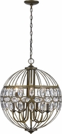 Trans Globe 10479-AB Adeline Antique Brass Pendant Light