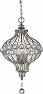 Trans Globe 10493-ASL Alcira Antique Silver Leaf Lighting Pendant