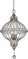 Trans Globe 10494-ASL Alcira Antique Silver Leaf Hanging Lamp
