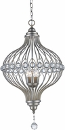 Trans Globe 10495-ASL Alcira Antique Silver Leaf Pendant Light Fixture