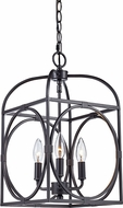 Trans Globe 10513-ROB Academy Modern Rubbed Oil Bronze 10  Foyer Lighting Fixture
