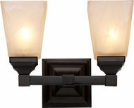 Trans Globe 20332-BK Mission Bath Black 2-Light Bathroom Lighting