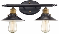 Trans Globe 20512-ROB Griswald Modern Rubbed Oil Bronze 2-Light Bath Lighting Fixture
