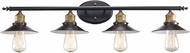 Trans Globe 20514-ROB Griswald Modern Rubbed Oil Bronze 4-Light Bathroom Sconce