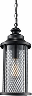 Trans Globe 40746-BK Stewart Black Outdoor 20.5  Ceiling Light Pendant