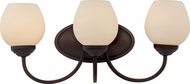 Trans Globe 70533-ROB Rubbed Oil Bronze 3-Light Vanity Lighting Fixture