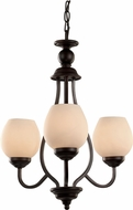 Trans Globe 70536-ROB Rubbed Oil Bronze Mini Chandelier Light