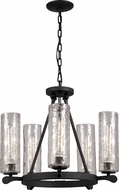 Trans Globe 70585 Bottles Retro Matte Black Mini Lighting Chandelier