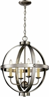 Trans Globe 70594-BN Laurence Contemporary Brushed Nickel 19 Pendant Lighting