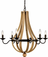Trans Globe 70605 Woodland Weathered Bronze Chandelier Light